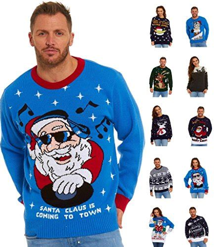 Lekeez Unisex Knitted Ugly Christmas Sweater Pullover Dj