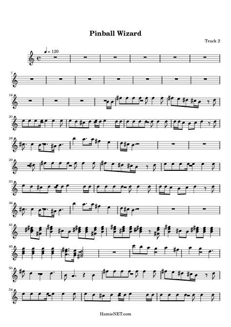 wizard music pinball wizard sheet music pinball wizard score