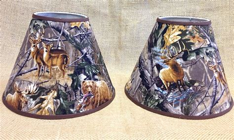 Camo L Shade by Set Of 2 Camo Deer Center Animal Varies Lshade L Shade Ebay