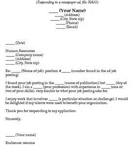 cover letter fill in the blanks fill in the blank cover letters newspaper ads
