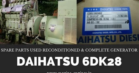 spare part daihatsu daihatsu 6dk28 genset engine and spare parts
