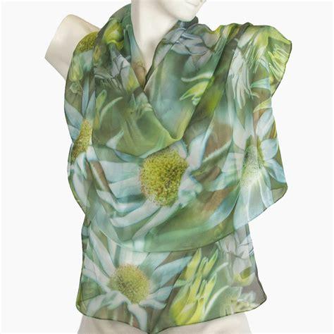 flannel flowers scarf australian themed flower printed