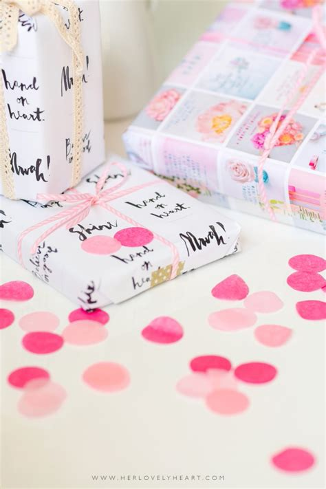 Make My Own Wrapping Paper - make your own diy wrapping paper lovely