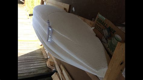 foam core fiberglass boat construction making kayaks out of quot recycled quot quot styrofoam youtube