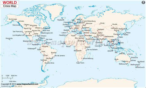 world map of cities and countries city maps map of major cities of the world