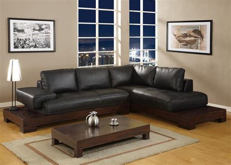 Living Room With Black Sofa Decorating A Room With Black Leather Sofa Traba Homes