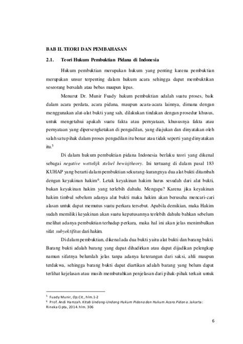 Teori Dan Hukum Pembuktian paper hukum pembuktian hansel