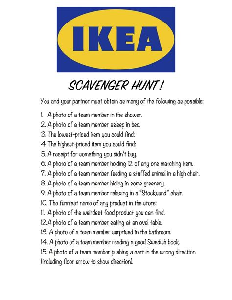 ikea scavenger hunt ikea scavenger hunt a love letter to food