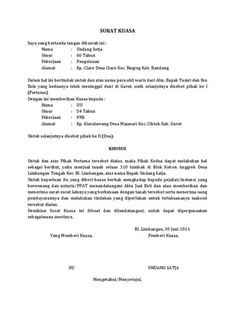 Contoh Surat Kuasa Buatan Tangan by 9 Contoh Surat Kuasa Lengkap Khusus Uang Bpkb Ijazah