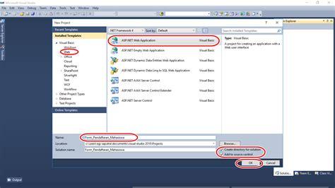 membuat web dengan asp net vb tutorial input data mahasiswa dengan asp net it gaptek