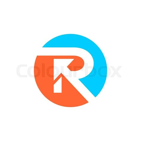 r logo letter r logo design stock vector colourbox