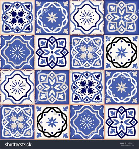 Moroccan Patchwork Tiles - gorgeous seamless patchwork pattern colorful moroccan