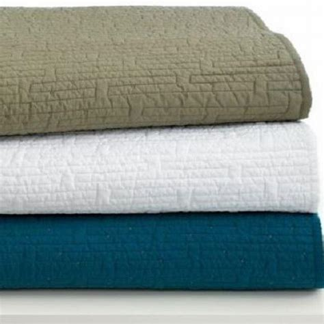 Bar Iii Solid 100 Cotton Quilted Full Queen Coverlet