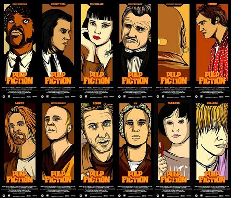gifts for pulp fiction fans pulp fiction movie poster by mainger pulp fiction fan