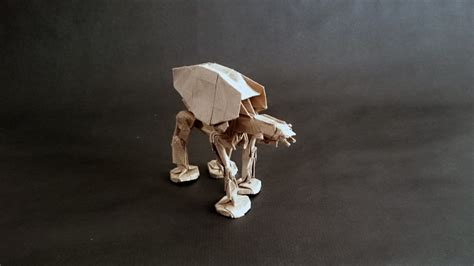 Origami At At - wars origami episode i vehicles and vessels