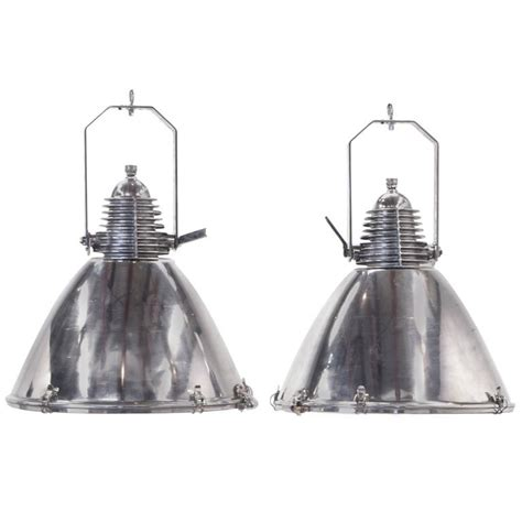 stainless steel pendant light fixtures pair of large stainless steel marine light fixtures or