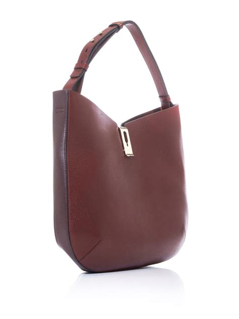 Anya Hindmarch Pecary Leather Hobo by Lyst Anya Hindmarch Albion Leather Hobo In Purple