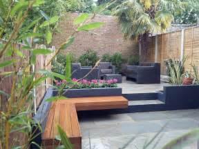 Designer Patio modern garden design london natural sandstone paving patio