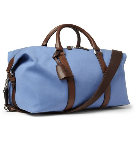 Mulberry Radcliffe Canvas Purse by Mulberry Small Clipper Leathertrimmed Canvas Holdall Bag