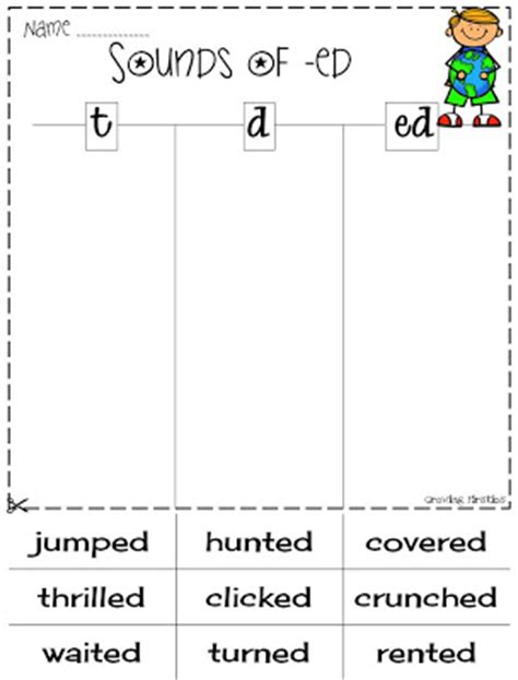 3 sounds of ed worksheet tba freebie friday common crunch april growing firsties
