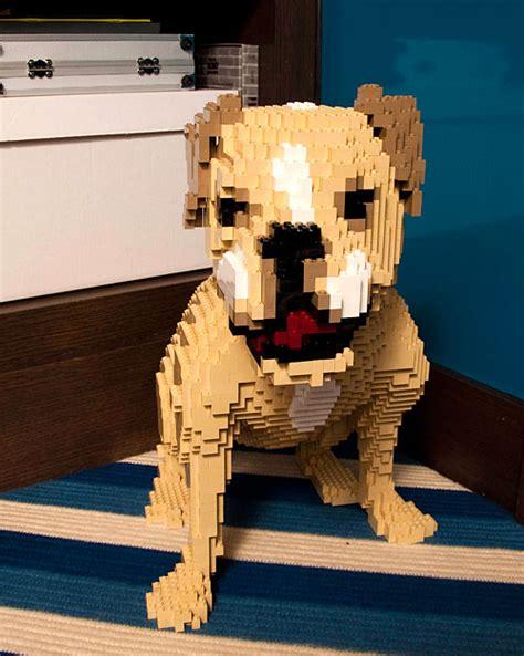 lego puppy custom lego by nathan sawaya