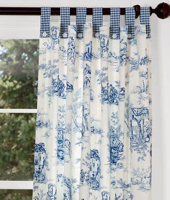 Tab Top Button Curtains Lenoxdale Toile Button Tab Curtains With Laurel Check But In Black For The Bathroom Just For