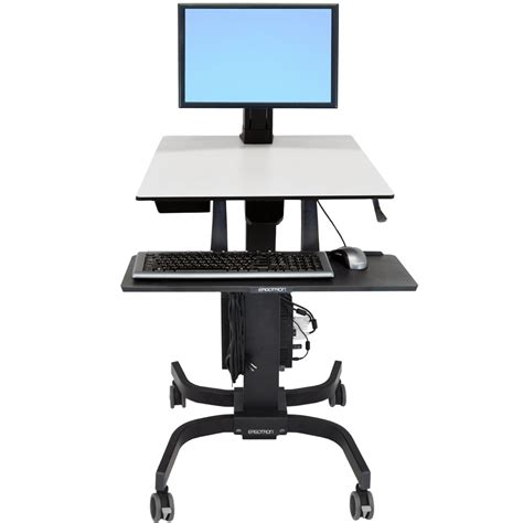 Ergotron Sit Stand Desk Sit Stand Cart Ergotron 24 215 085 Workfit C Single Ld