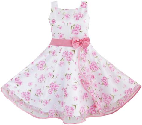 Flower Pink Tweety Dress 3 layers dress pink flower wave pageant wedding
