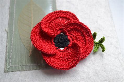pattern crochet poppy poppy flower crochet pattern crochet flowers crochet