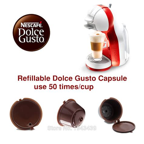 3pcs pack use 150times dolce gusto coffee capsule plastic capsule refillable reusable compatible