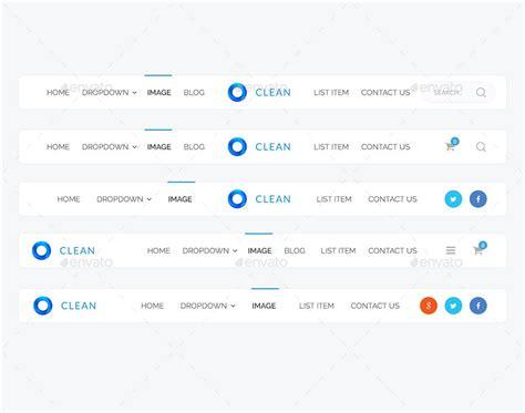 layout design navigation item clean navigation by apex theme graphicriver