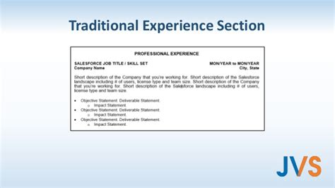 100 experience section resume livecareer