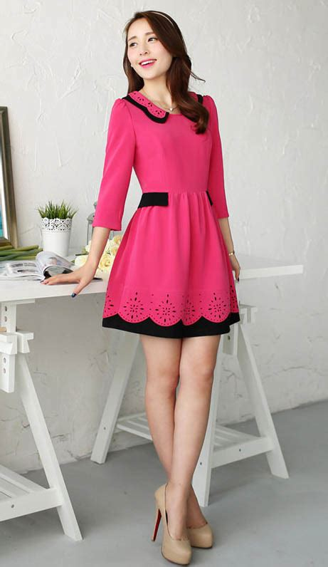 Dress Mini Bodycon Pesta Pink Hitam Katun Murah Import Cina search results for model baju cewek korea dress 2015