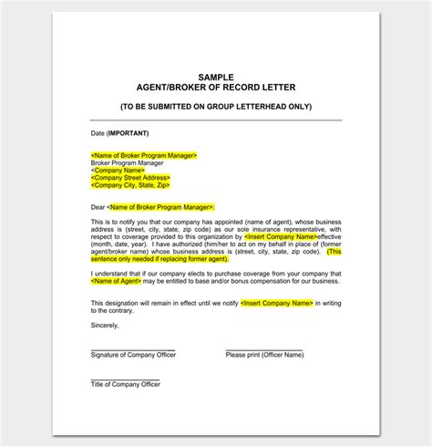 Letter Of Appointment For Insurance Broker Appointment Letter 16 Sles Formats Exles Dotxes