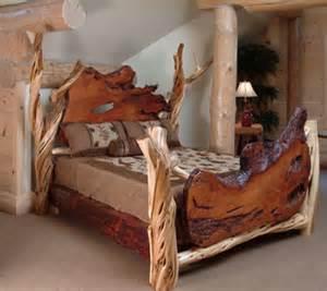 Juniper Wood Bed Frames Rustic Log Bed 171 The Log Builders
