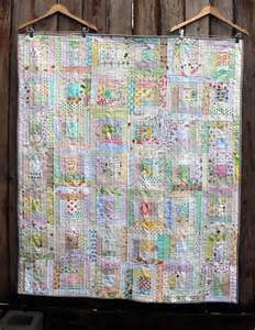 low volume log cabin finished wombat quilts