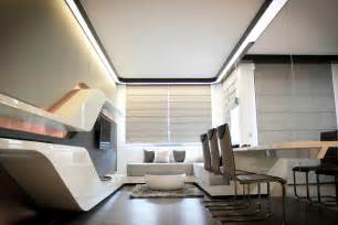 space interior design futuristic apartment for high technologies lovers digsdigs