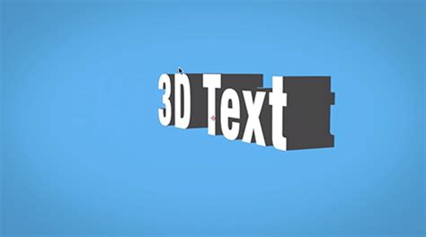tutorial after effect text 3d 3d text in after effects without third party plugins the