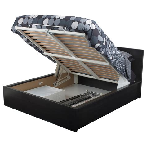 ikea ottoman bed malm ottoman bed black brown standard double ikea