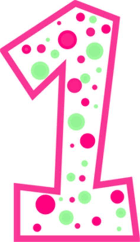 Kalkulator Polkadot Character Hello 8 Digits number 1 pink and green polkadot clip at clker