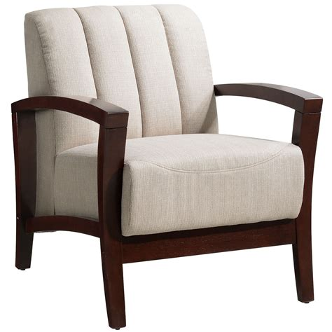 Upholster Armchair by Enamor Modern Upholstered Armchair With Solid Wood Base Walnut Taupe