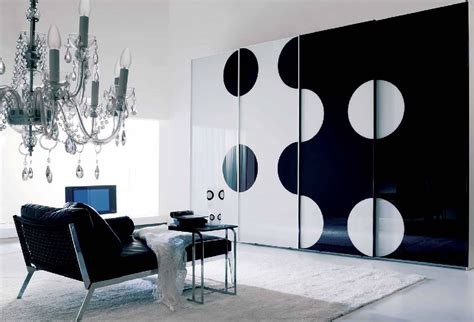 Black And White Wardrobe Astonishing Wardrobe Door Design Painted With Black And