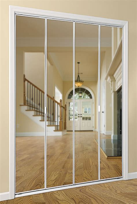 Bifold Closet Doors With Mirrors Series 4003 Bifold Mirror Door Daiek Door Systems