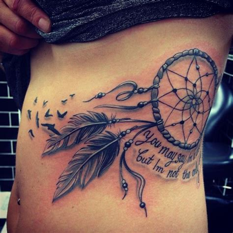 dreamcatcher tattoos on side catcher images designs