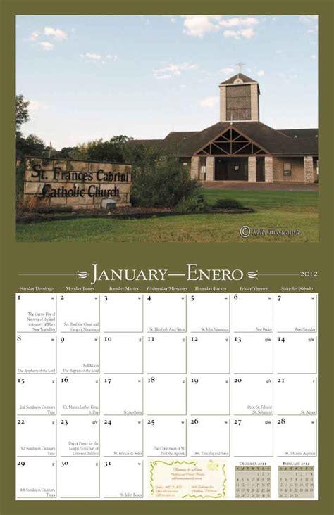 how to make a church calendar church fundraiser st frances cabrini catholic church s