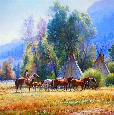 imagenes de paisajes indios im 225 genes arte pinturas paisajes del oeste con indios