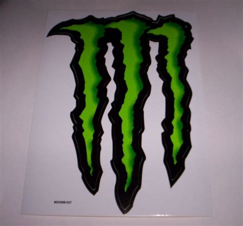 Sticker Stiker Energy Logo Hijau Stabilo new energy drinks large green quot m quot logo sticker decal skater motocross ebay