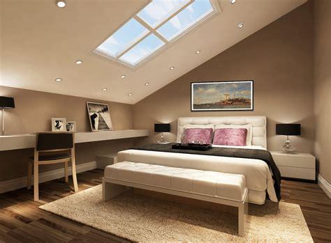 Slant loft bedroom furniture design Interior Design