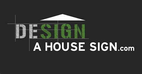 create a house house signs house numbers design a house sign
