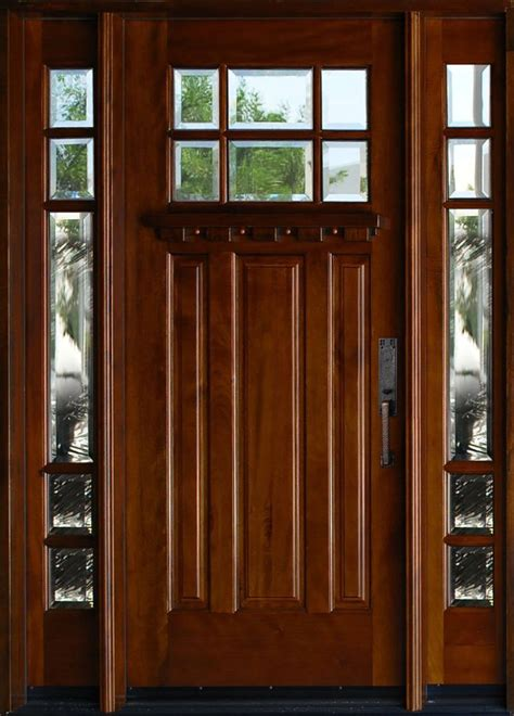 Ebay Exterior Doors Exterior Mahagany Front Wood Entry Door Huntington 1d 2sl18 Quot 36 Quot X80 Lh Swing In Ebay